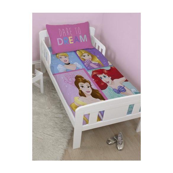 Disney Princess, Hercegnők gyerek,ovis ágyneműhuzat 120cm x 150cm, 42cm x 62cm