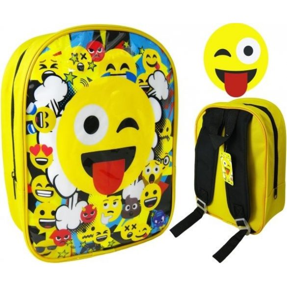Emoji, Smile táska, hátizsák 42cm