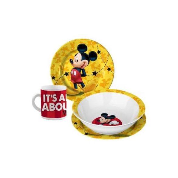 Mickey egér étkészlet, porcelán