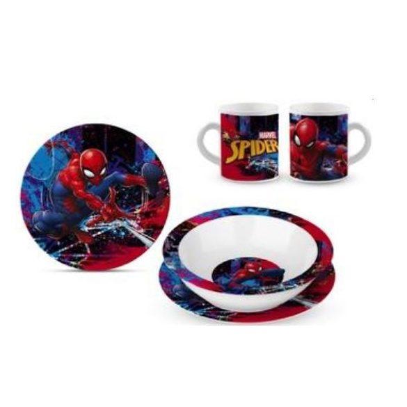 Gyermek étkészlet porcelán Spiderman, Pókember
