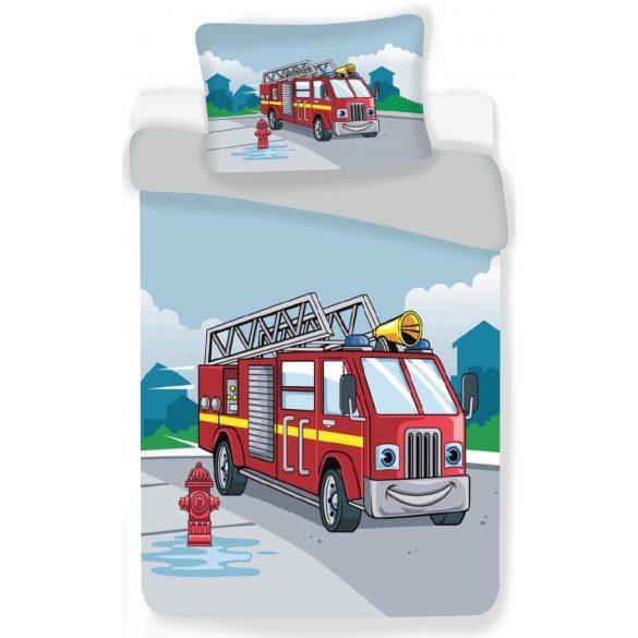 Tűzoltóautó Gyerek ágyneműhuzat 100×135 cm, 40×60 cm