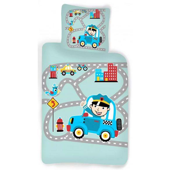Rendőr gyerek, ovis ágyneműhuzat 100×140cm, 40×45 cm
