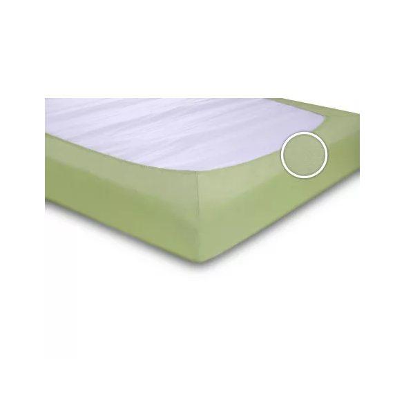 Zöld Jersey gumis lepedő 180*200 cm