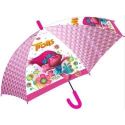 Gyerek átlátszó, félautomata esernyő Trolls, Trollok 83 cm