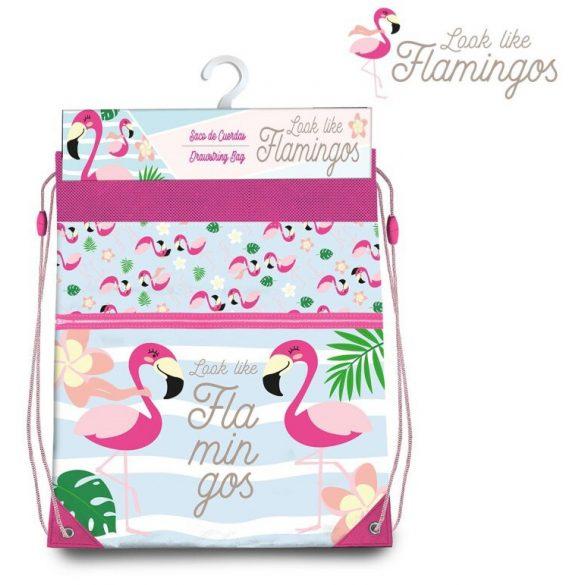 Flamingó sporttáska tornazsák 42 cm