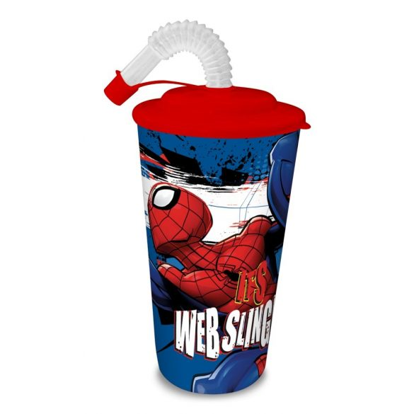 Szívószálas pohár Spiderman, Pókember