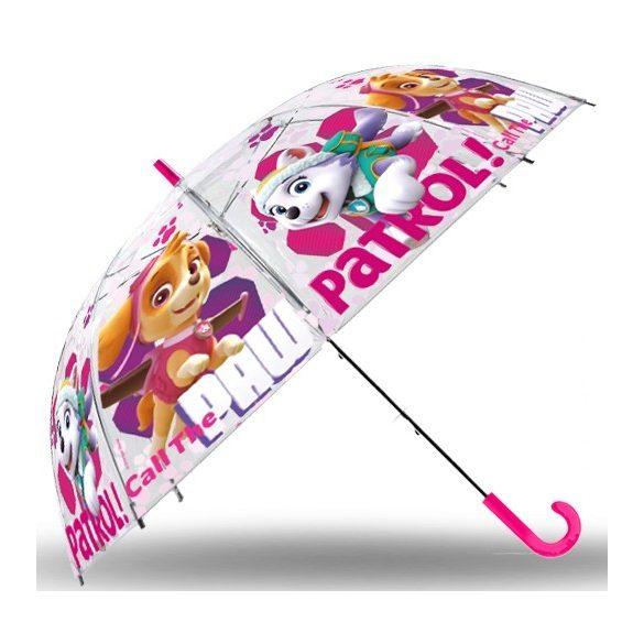 Gyerek átlátszó, félautomata esernyő Paw Patrol, Mancs Őrjárat 83 cm