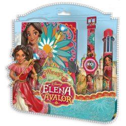 Napló + 6 színű toll + karóra Disney Elena of Avalor