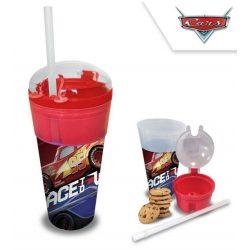 Üdítő- és snack tartó pohár Disney Cars, Verdák 500ml