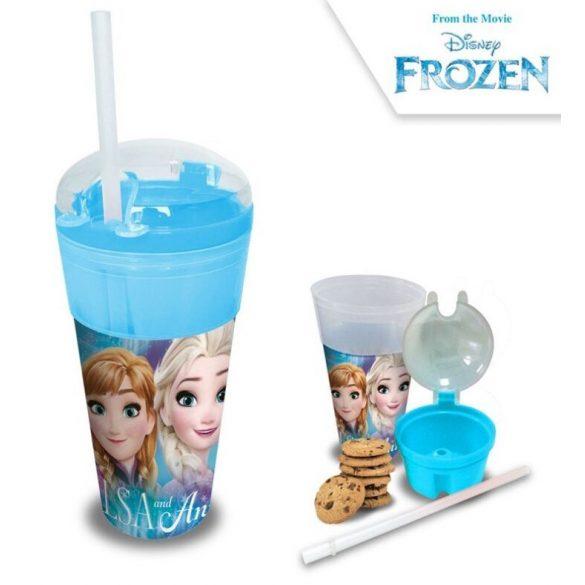 Üdítő- és snack tartó pohár Disney Frozen, Jégvarázs 500ml