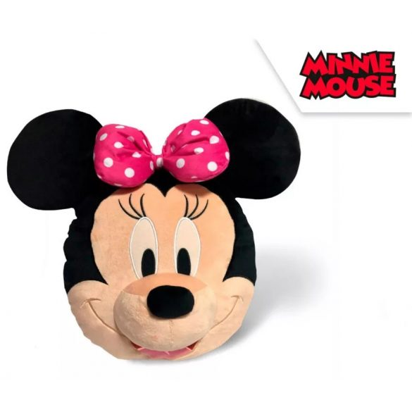 Disney Minnie fej 3D, plüss figura, párna 35 cm