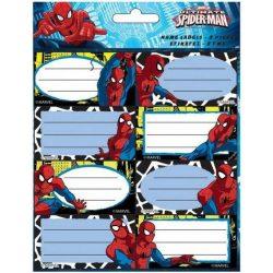 Füzetcímke 16 db-os Spiderman, Pókember