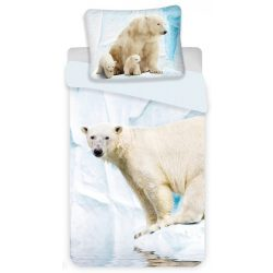 Ágyneműhuzat Polar Bear, Jegesmedve 140×200cm, 70×90 cm
