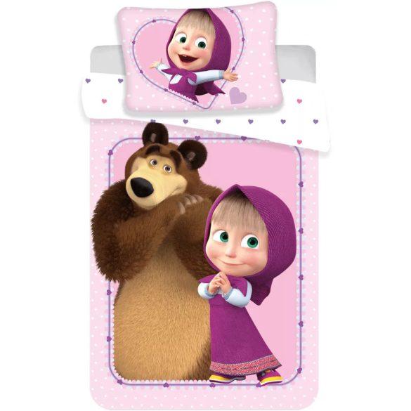 Mása és a medve Gyerek ágyneműhuzat 100×135cm, 40×60 cm