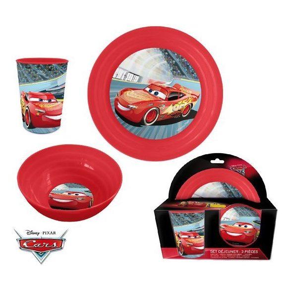Étkészlet, műanyag szett Disney Cars, Verdák