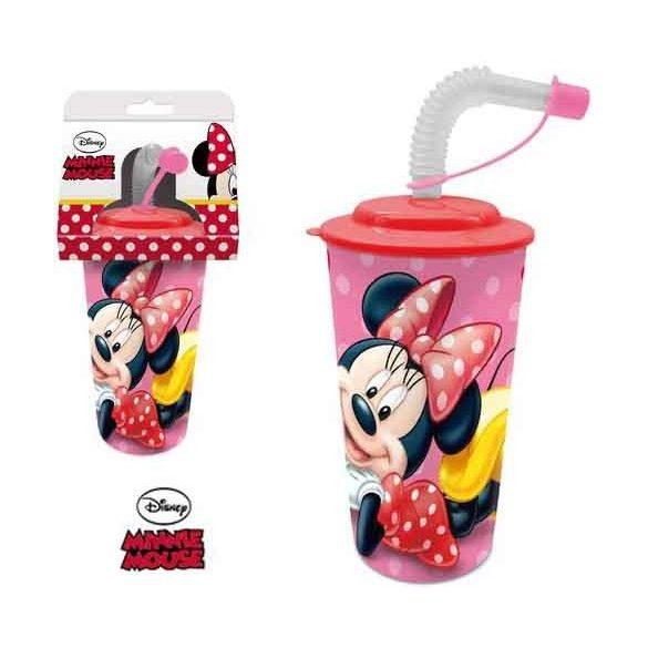 Szívószálas pohár 3D Disney Minnie
