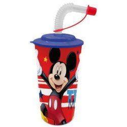 Szívószálas pohár 3D Disney Mickey