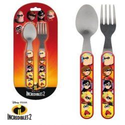 Evőeszköz készlet - 2 darabos Disney The Incredibles, A Hihetetlen család