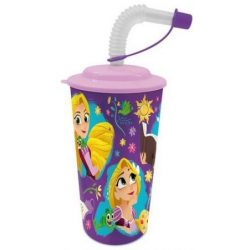 Szívószálas pohár 3D Disney Princess, Hercegnők