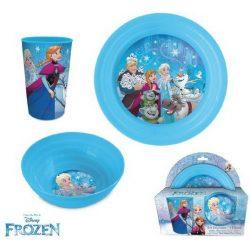 Étkészlet, műanyag szett Disney Frozen, Jégvarázs