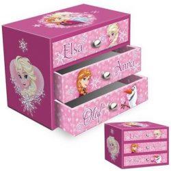 Ékszertartó doboz Disney Frozen, Jégvarázs (3 fiókos)