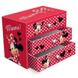 Ékszertartó doboz Disney Minnie (3 fiókos)