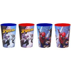 Pókember, Spiderman műanyag pohár szett 4 db