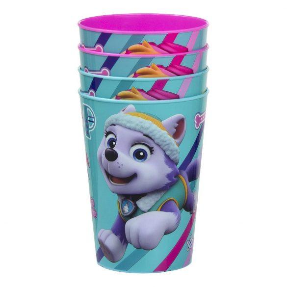 Mancs Őrjárat műanyag pohár szett 4db