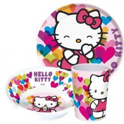 Étkészlet, melamin szett Hello Kitty