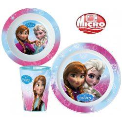 Étkészlet, micro műanyag szett Disney Frozen, Jégvarázs