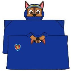Plüss kapucnis takaró poncsó Paw Patrol, Mancs Őrjárat 80*120cm