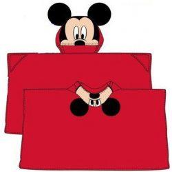 Plüss kapucnis takaró poncsó Disney Mickey 80*120cm