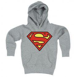 Superman logós, gyerek kapucnis pulóver