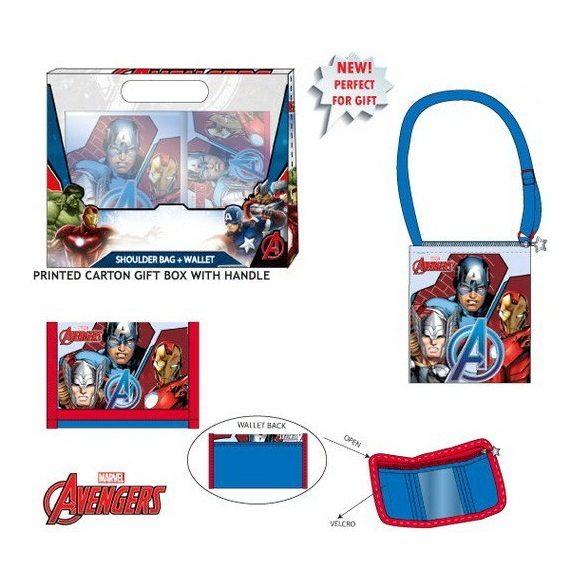 Oldaltáska válltáska + pénztárca szett Avengers, Bosszúállók