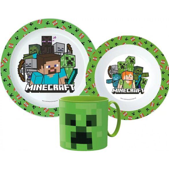 Minecraft étkészlet, micro műanyag szett