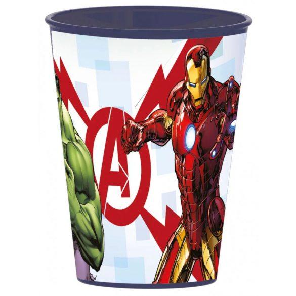Bosszúállók pohár, műanyag 260 ml