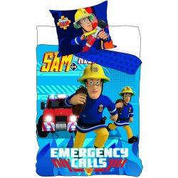 Gyerek ágyneműhuzat Fireman Sam, Sam a tűzoltó 90×140cm, 40×55 cm