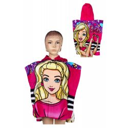 Barbie törölköző poncsó 55*110 cm