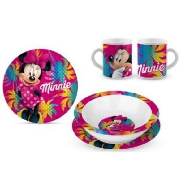 Minnie egér 3 részes porcelán étkészlet