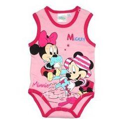 Mickey és Minnie  baba body rózsaszín