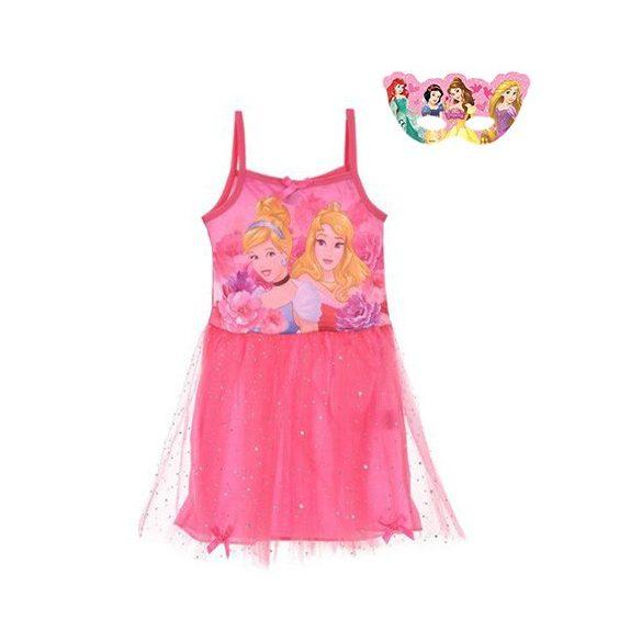 Princess, Hercegnők jelmez, pántos kislány ruha álarccal
